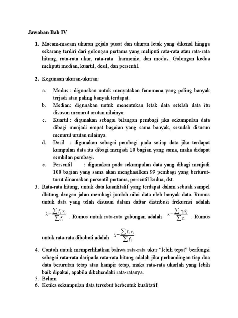 Pengertian parametrik pada statristika adalah…. Kunci Jawaban Bab 4 Statistika Pdf