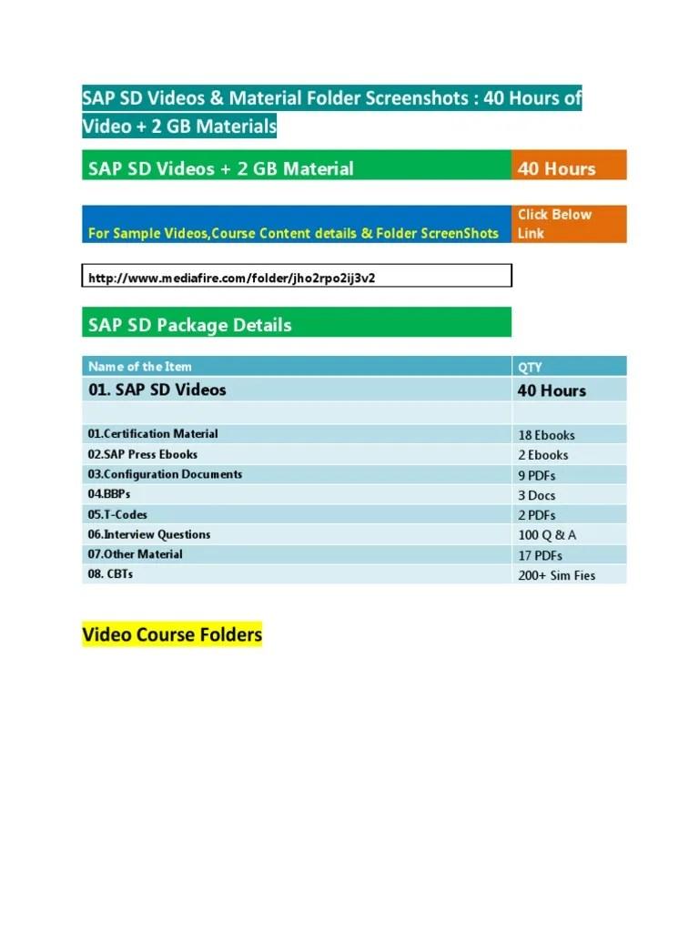 medium resolution of sap sd training videos materials folder screenshots pdf