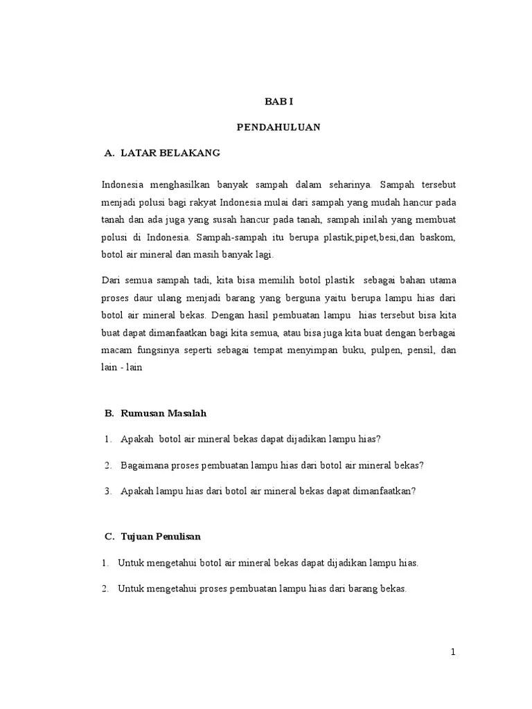 Contoh Makalah Prakarya Dan Kewirausahaan Kerajinan Tangan Cute766