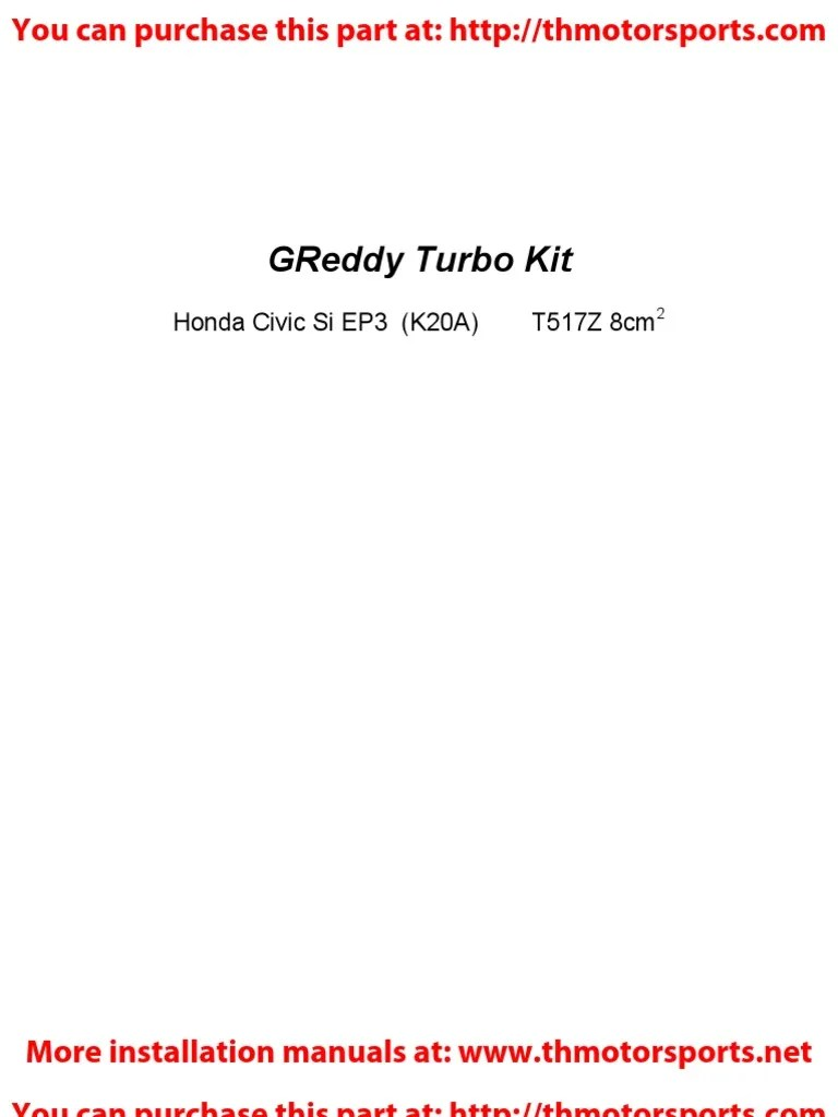 greddy turbo kit installation honda civic 2 turbocharger automotive technologies [ 768 x 1024 Pixel ]