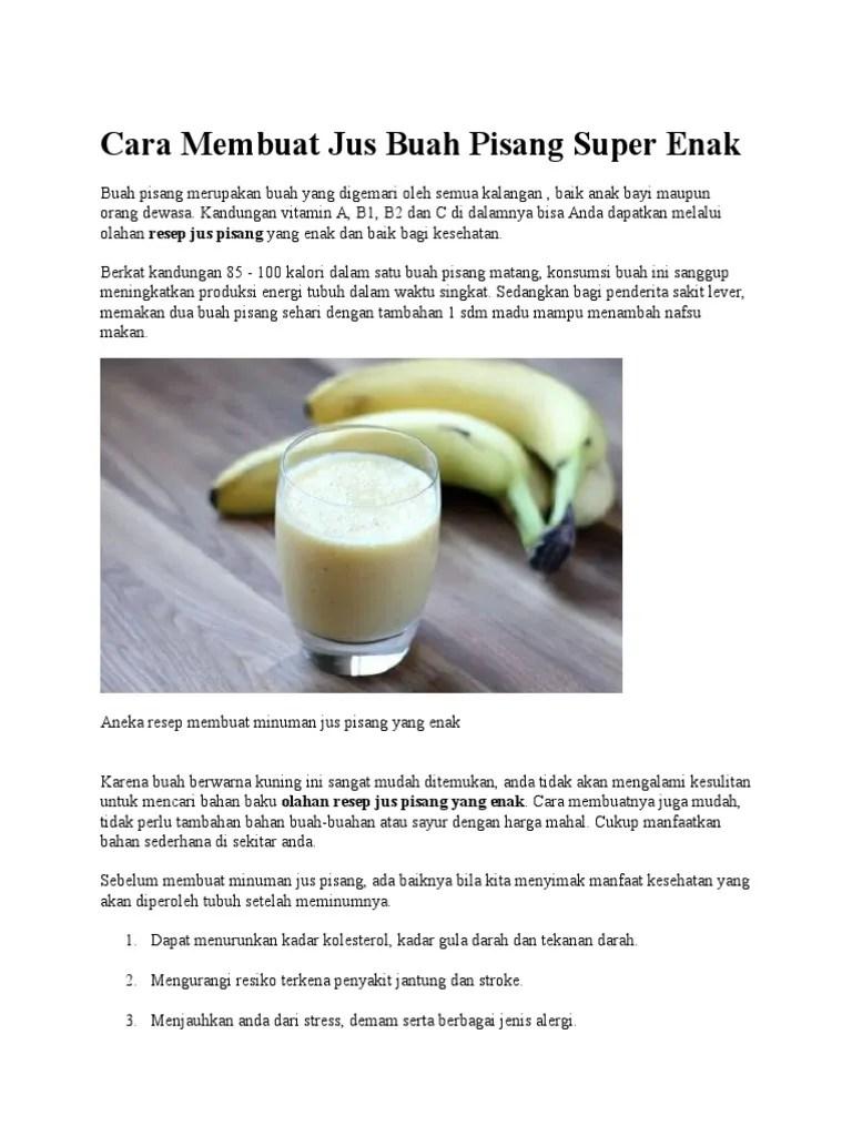 Kalori Pisang Ambon : kalori, pisang, ambon, Membuat, Pisang, Super