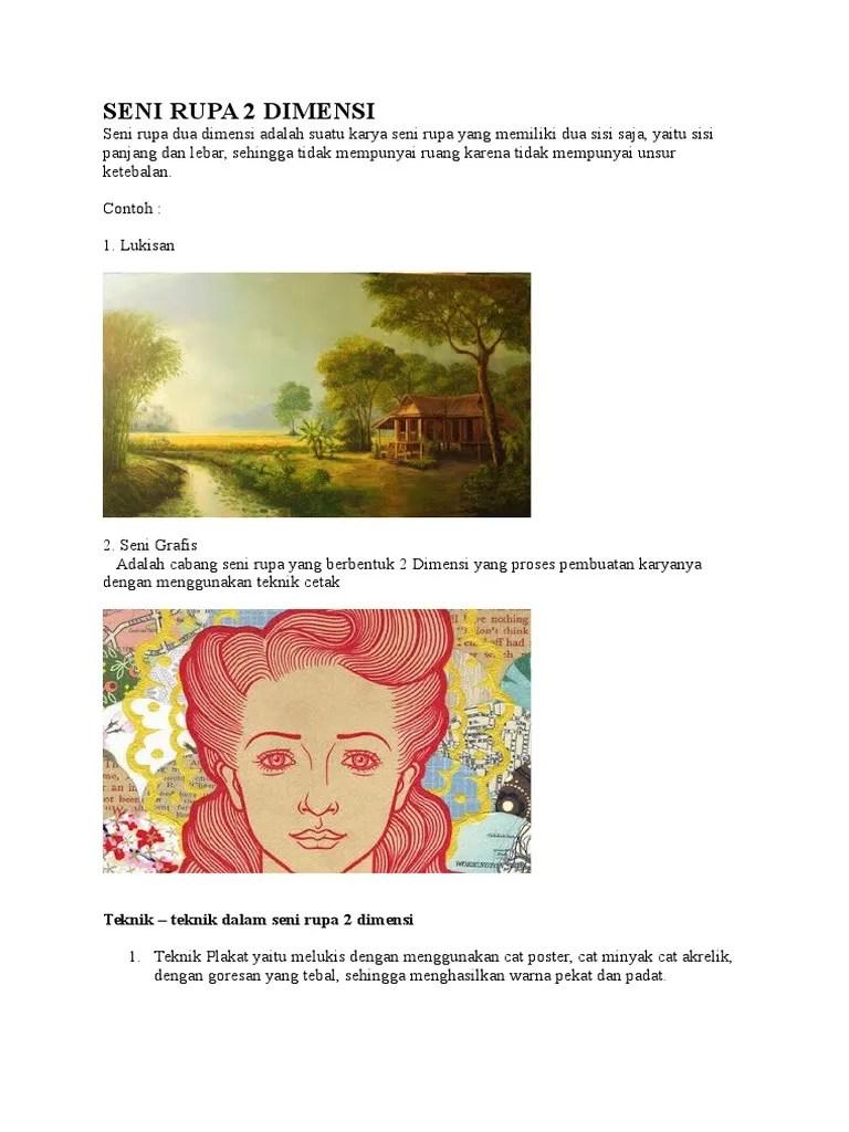 Contoh Seni Rupa 2 Dimensi : contoh, dimensi, Contoh, Karya, Dimensi, Adalah, Aneka, Cute766