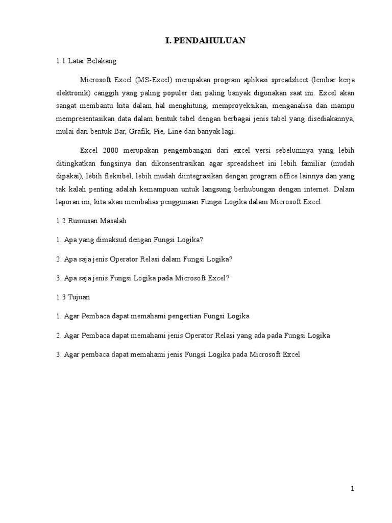 Fungsi Logika Pada Microsoft Excel : fungsi, logika, microsoft, excel, Laporan, Fungsi, Logika
