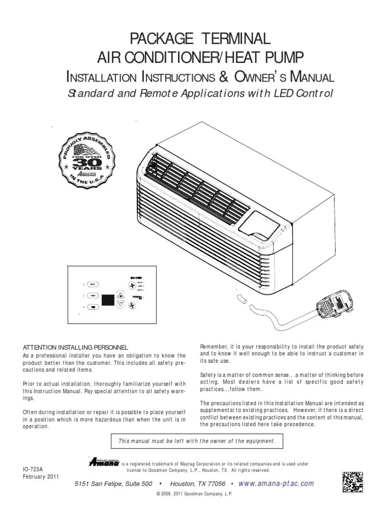 hight resolution of  amana ac unit pdf thermostat hvac on kitchenaid refrigerator wiring diagram amana amana ptac