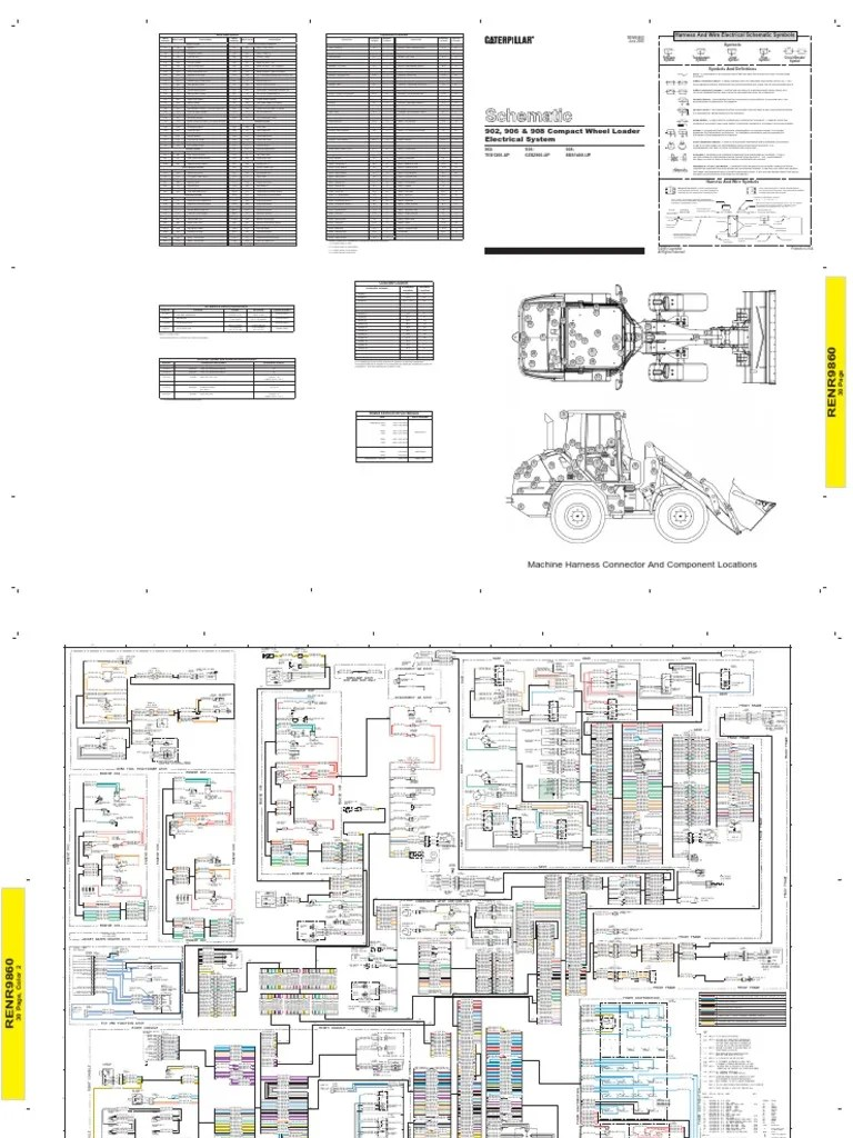 hight resolution of 908 cat loader wiring diagram