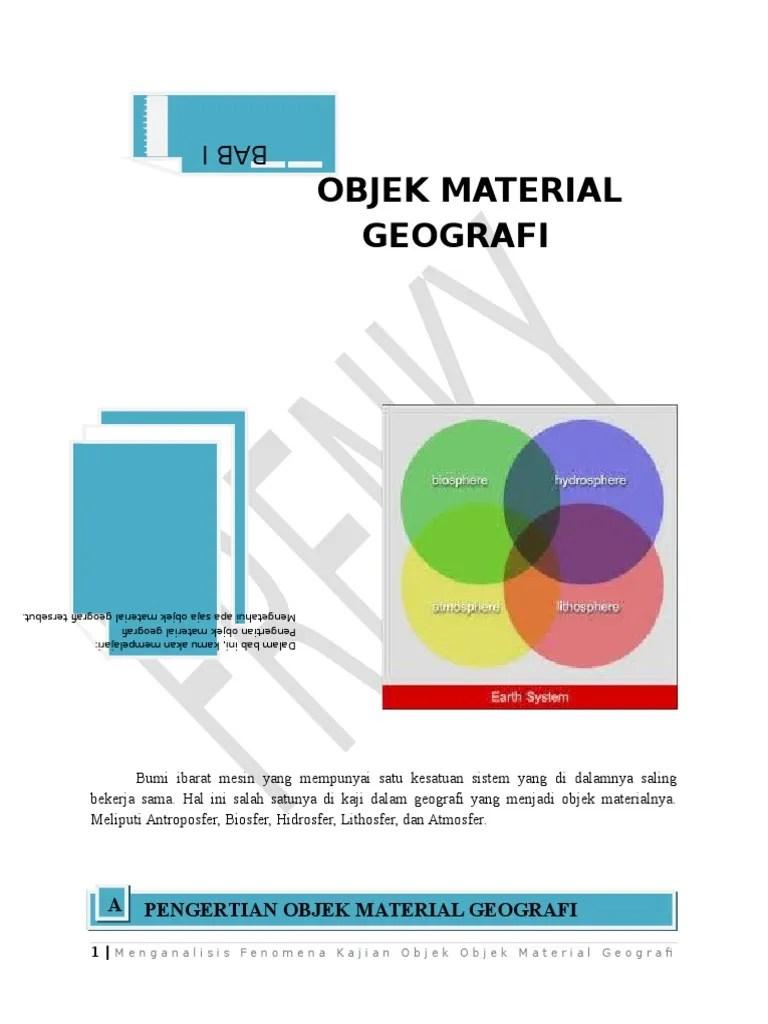 Objek Formal Geografi : objek, formal, geografi, Objek, Material, Geografi