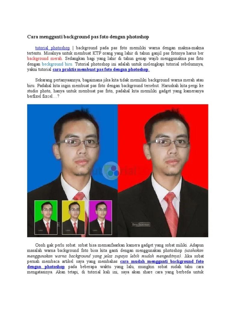 Cara Mengganti Background Pas Foto Di Photoshop : mengganti, background, photoshop, Mengganti, Background, Dengan, Photoshop