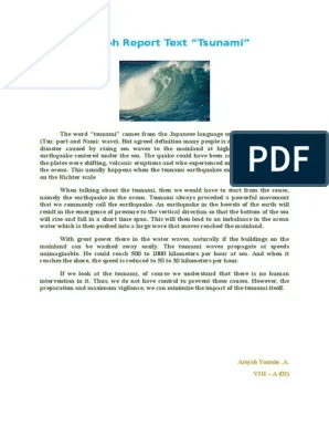 Contoh Report Text Singkat : contoh, report, singkat, Contoh, Report, Singkat, Tentang, Bencana, Barisan
