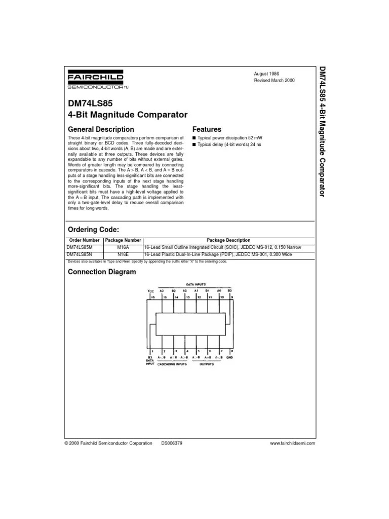 hight resolution of  circuit for 2 bit dm74ls85 4 bit magnitude comparator computer engineering electricity