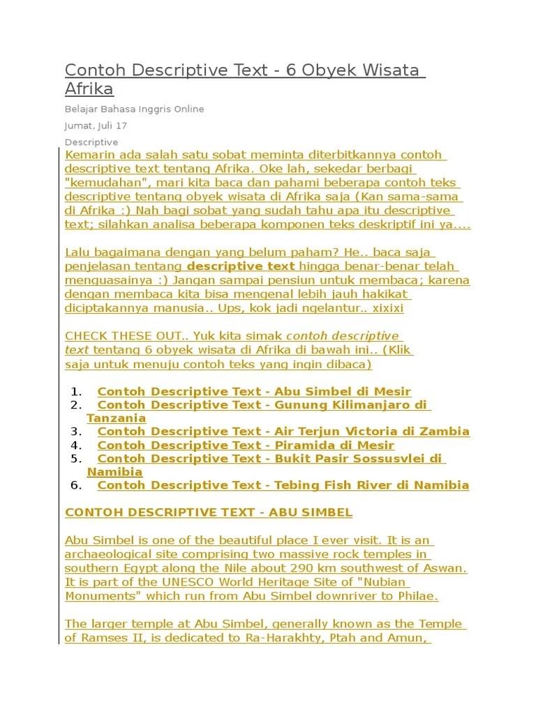 Contoh Teks Descriptive Bahasa Inggris : contoh, descriptive, bahasa, inggris, Contoh, Descriptive, Geomorphology, Nature