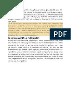 Terjemahan Surat Al Kahfi Ayat 29 : terjemahan, surat, kahfi, Surah, Kahfi, Latin, Mudah