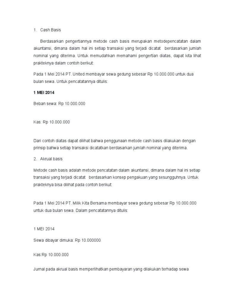 (DOC) Makalah Cash Basis dan Accrual Basic | Lybar Naufal
