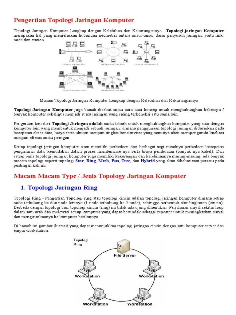 Perbedaan Topologi Bus Dan Star : perbedaan, topologi, Pengertian, Topologi, Jaringan, Komputer, Jenis2, Tipologi