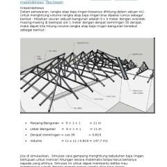 Menghitung Kebutuhan Baja Ringan Untuk Atap Cara Luas Rangka Docx