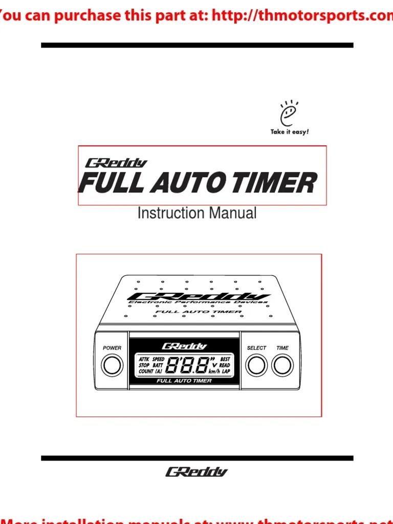 greddy full auto turbo timer manual manual transmission sub and amp wiring diagram greddy turbo timer [ 768 x 1024 Pixel ]