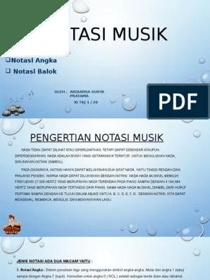 Pengertian Notasi Musik : pengertian, notasi, musik, Notasi, Musik
