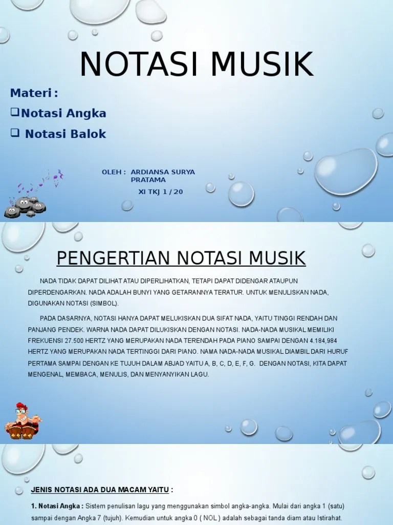 Macam Macam Not Balok : macam, balok, NOTASI, MUSIK.pptx