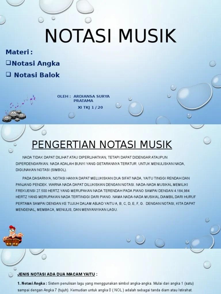 Pengertian Notasi Musik : pengertian, notasi, musik, NOTASI, MUSIK.pptx