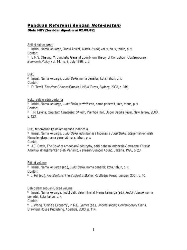 Penulisan Footnote Jurnal : penulisan, footnote, jurnal, Pendidikan:, Contoh, Footnote, Terjemahan