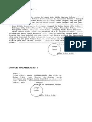 Contoh Waarmerking Notaris : contoh, waarmerking, notaris, Legalisasi, Waarmerking