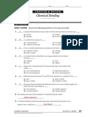 Chemical Bonding Review Worksheet : chemical, bonding, review, worksheet, 74853054, Chemical, Bonding, Covalent, Ionic