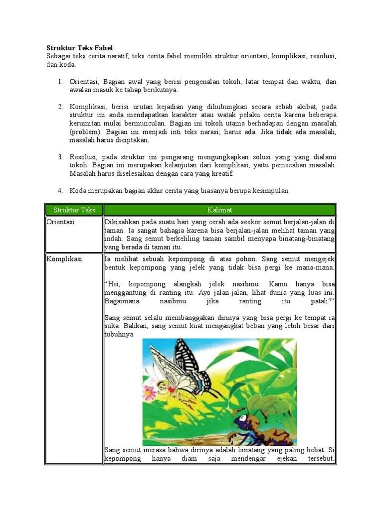 Struktur Cerita Fabel : struktur, cerita, fabel, Struktur, Fabel
