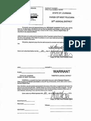 barrett boeker arrest warrant