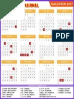 Kalender Nasional 2017 : kalender, nasional, Kalender, Indonesia, Libur, Nasional