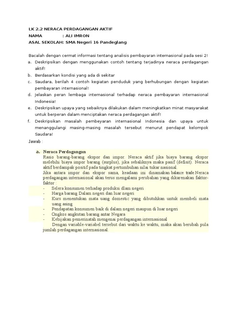 Neraca perdagangan - Wikipedia bahasa Indonesia