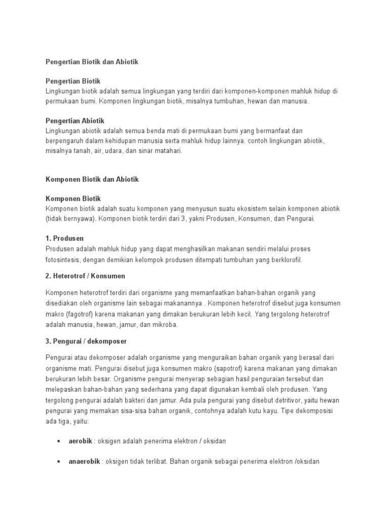 Pengertian Biotik Dan Abiotik : pengertian, biotik, abiotik, Pengertian, Biotik, Abiotik