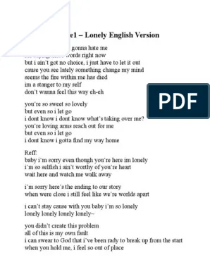 Lirik Lagu Lonely 2ne1 : lirik, lonely, Lyrics