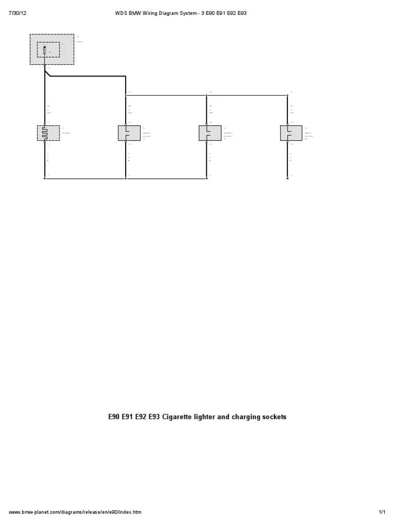 medium resolution of  wds bmw wiring diagram system 3 e90 e91 e92 e93 wds bmw wiring diagram system