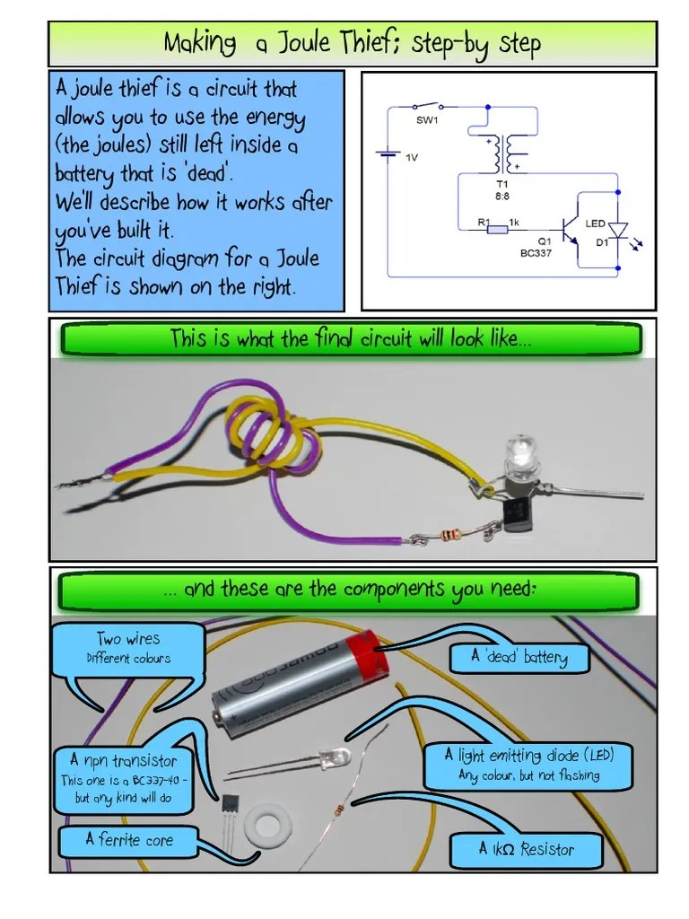 led circuit diagram joul theif [ 768 x 1024 Pixel ]