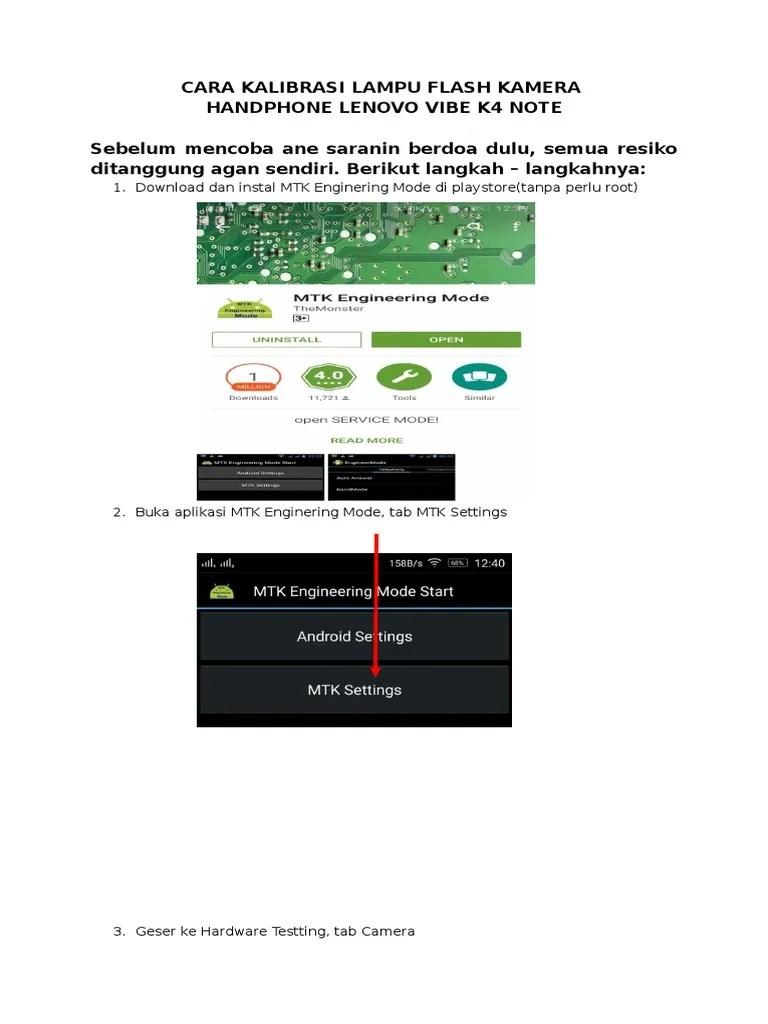 Cara Flash Lenovo K4 Note : flash, lenovo, Kalibrasi, Lampu, Flash, Kamera