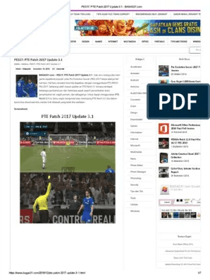 Update PES 2013 Terbaru PESEdit 2013 Patch 6.0