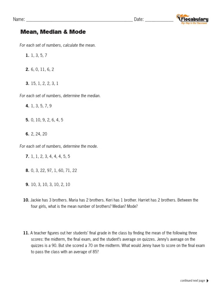 hight resolution of flocabulary mean median mode