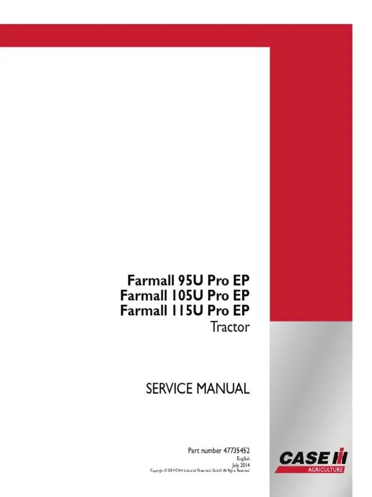 medium resolution of case ih u 95 105 115 service manual farmall pdf transmission mechanics machines