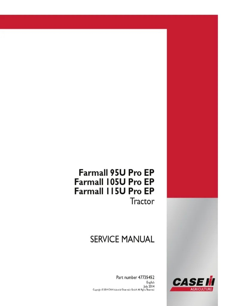 hight resolution of case ih u 95 105 115 service manual farmall pdf transmission mechanics machines
