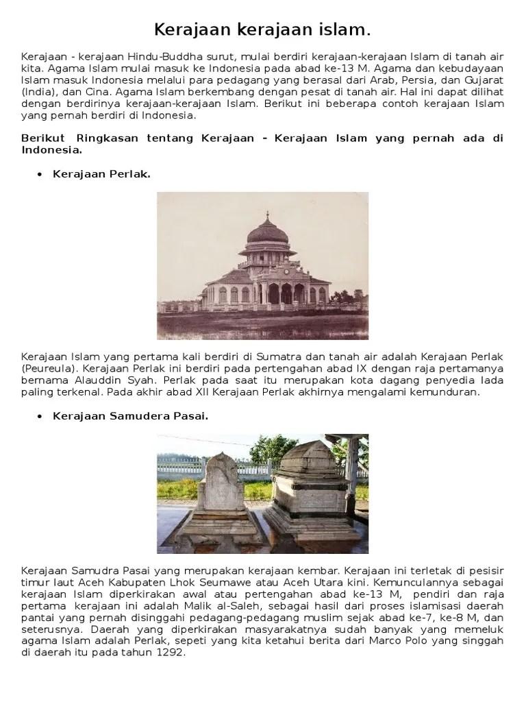 Ringkasan Kerajaan Islam : ringkasan, kerajaan, islam, Kerajaan, Islam
