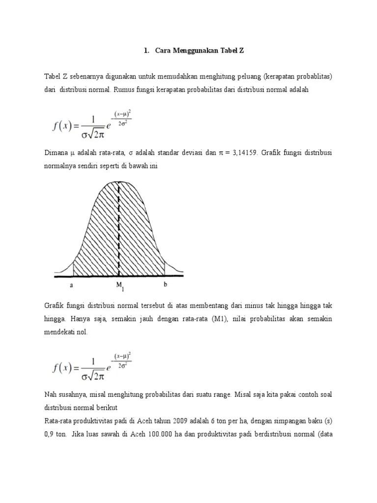 Contoh Soal Distribusi Normal Tabel Z : contoh, distribusi, normal, tabel, Probabilitas, Statistika, Variabel, Kontinu, Penyelesaian, Cute766