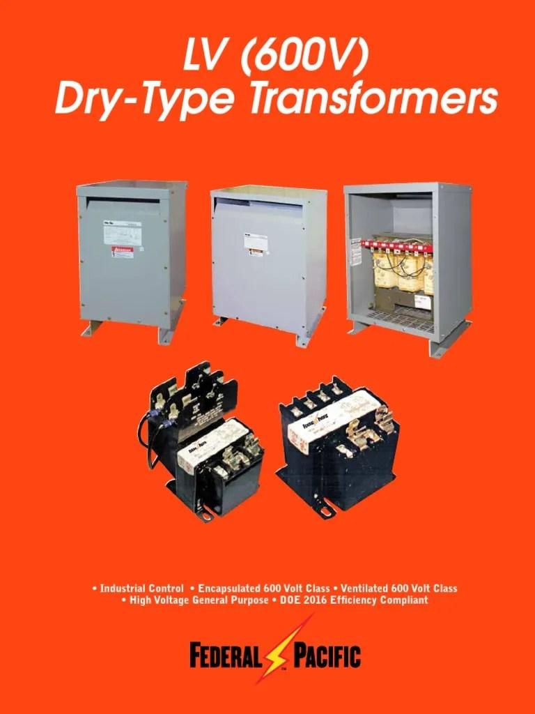 small resolution of  fp 600v transformer catalog transformer inductor federal pacific transformer a wiring diagram on lv 600v dry type