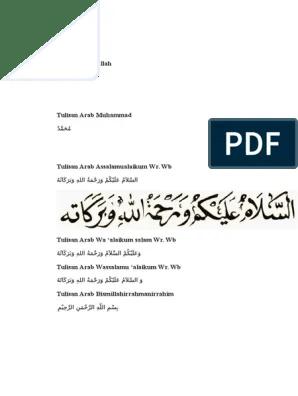 Tulisan Innalillahi Arab : tulisan, innalillahi, Tulisan