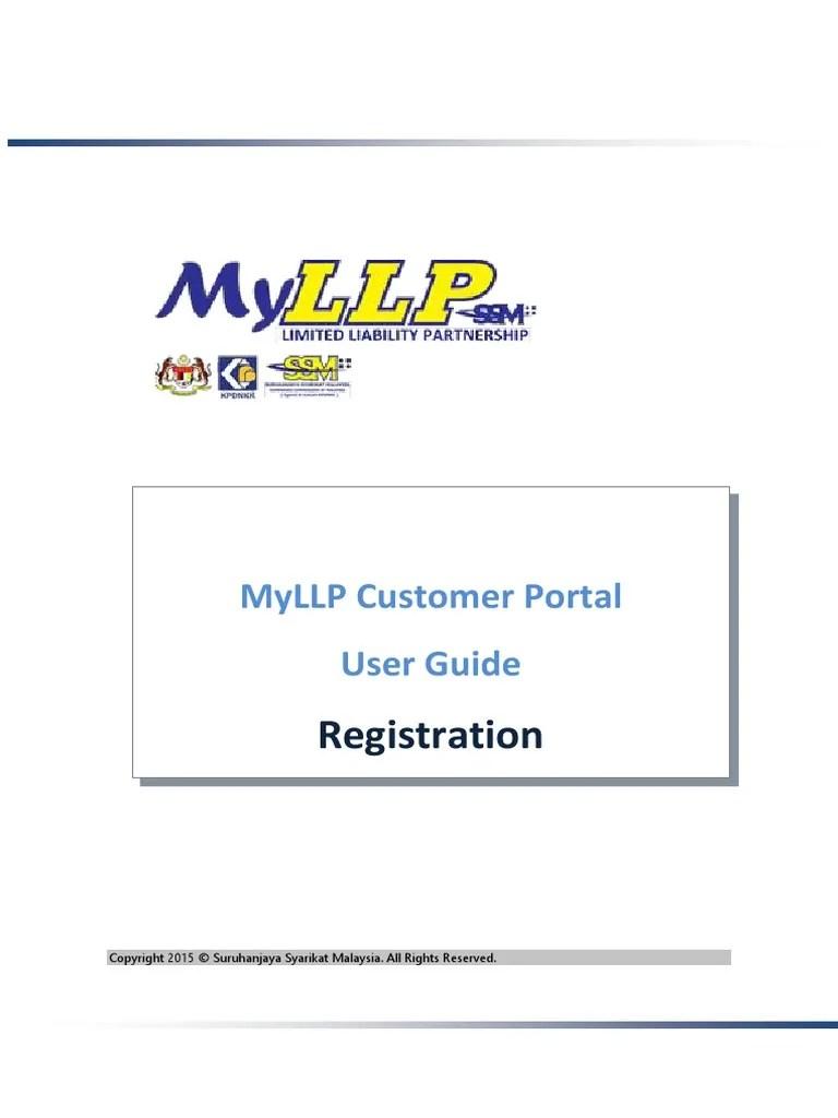 MyLLP Customer Portal User Guide - Registration   User (Computing)   Login