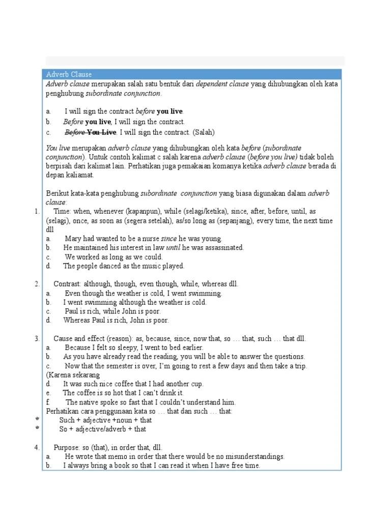 Contoh Kalimat As : contoh, kalimat, Contoh, Conjunction, Materi, Pelajaran