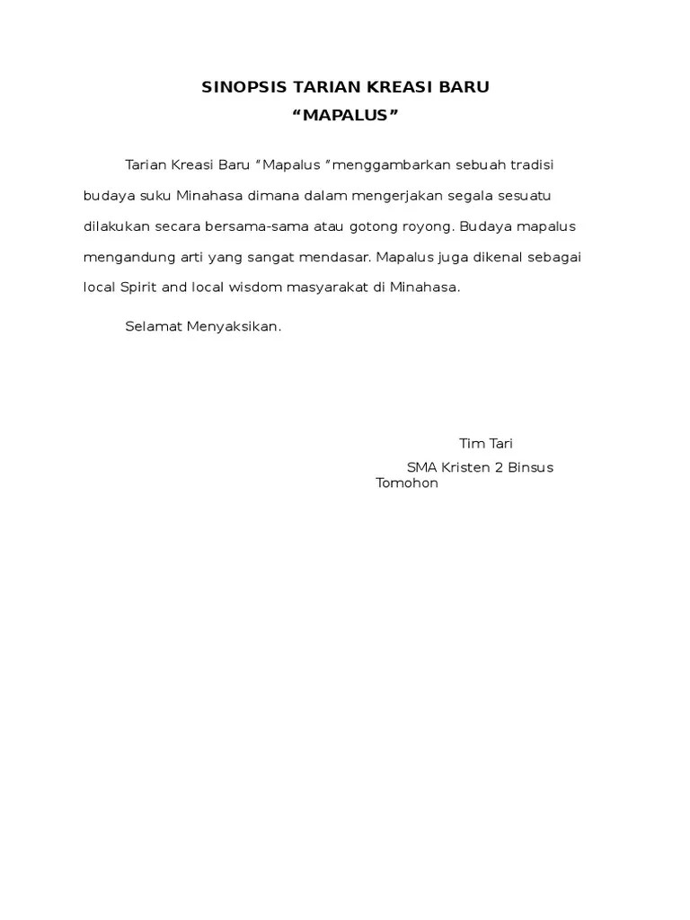 Sinopsis Tari Kreasi : sinopsis, kreasi, Sinopsis, Tarian, Kreasi