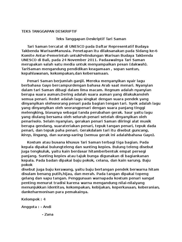 PDF Bab Ii Produk Tari Saman Sebagai Representative List of
