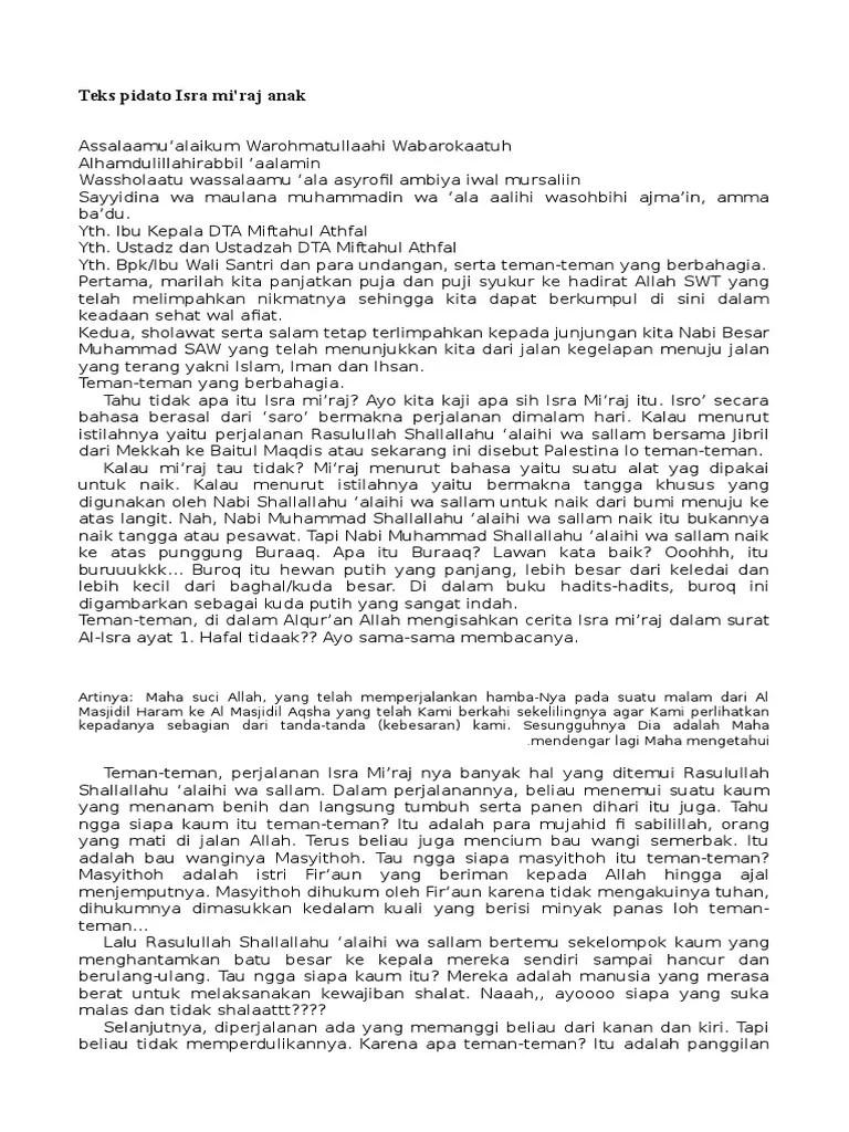 Teks Ceramah Isra Mi'raj : ceramah, mi'raj, Pidato, Tentang, Terbaik, Kumpulan, Cute766