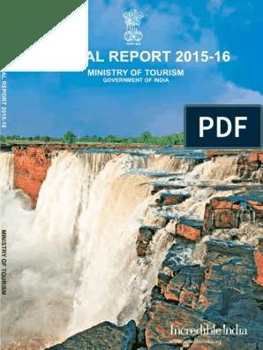Annual Rreport 2015 16 Pdf Economic Development Tourism