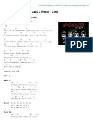 Chord Jrock Ceria : chord, jrock, ceria, Kunci, Gitar, Ceria, Bersama