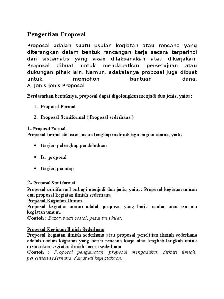 Contoh Proposal Formal Lengkap : contoh, proposal, formal, lengkap, Contoh, Proposal, Formal